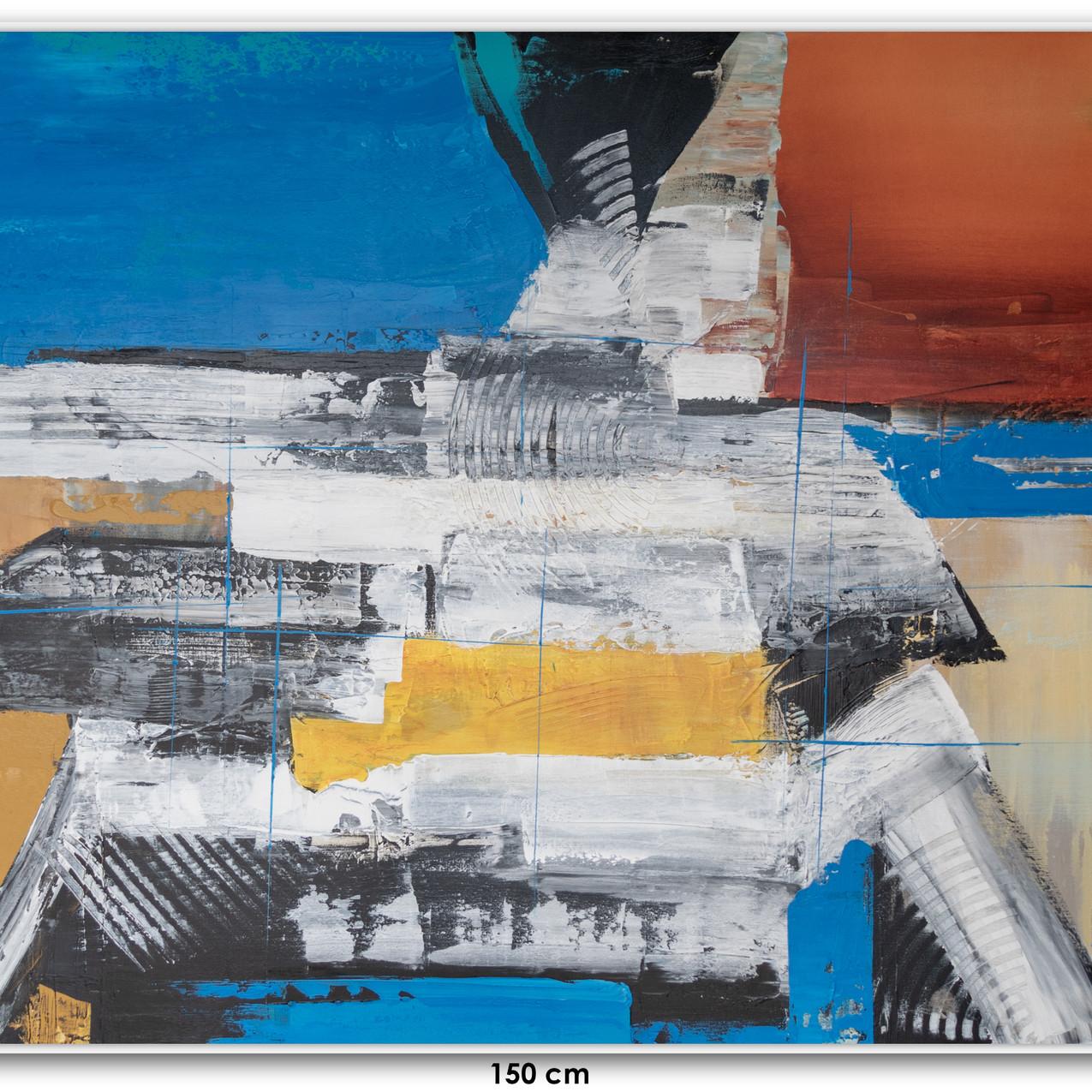 Pintura Abstrata Em Tela 150 cm X 100 cm (2)