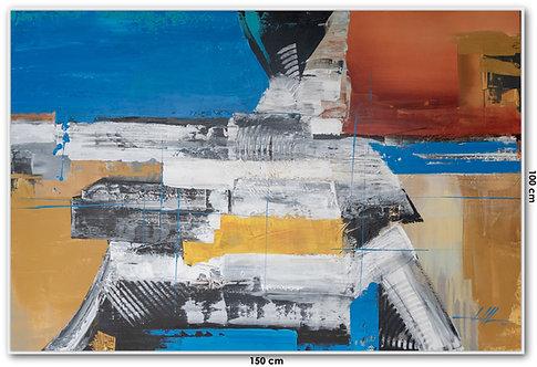 Pintura Abstrata Em Tela 150 cm X 100 cm Pallomaleo