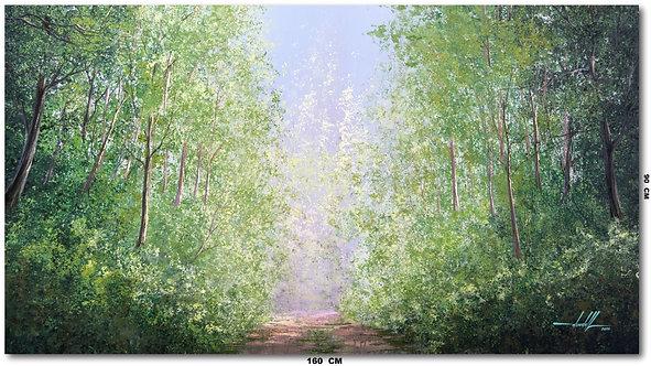 Pintura De Paisagem Em Tinta Oleo sobre Tela 160 cm X 90 cm