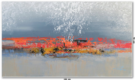 Tela Abstrata em Tela 120 Cm x 70 Cm - Neder-Land