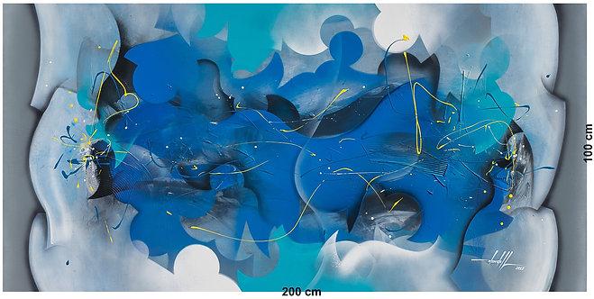 pintura abstrata em tela