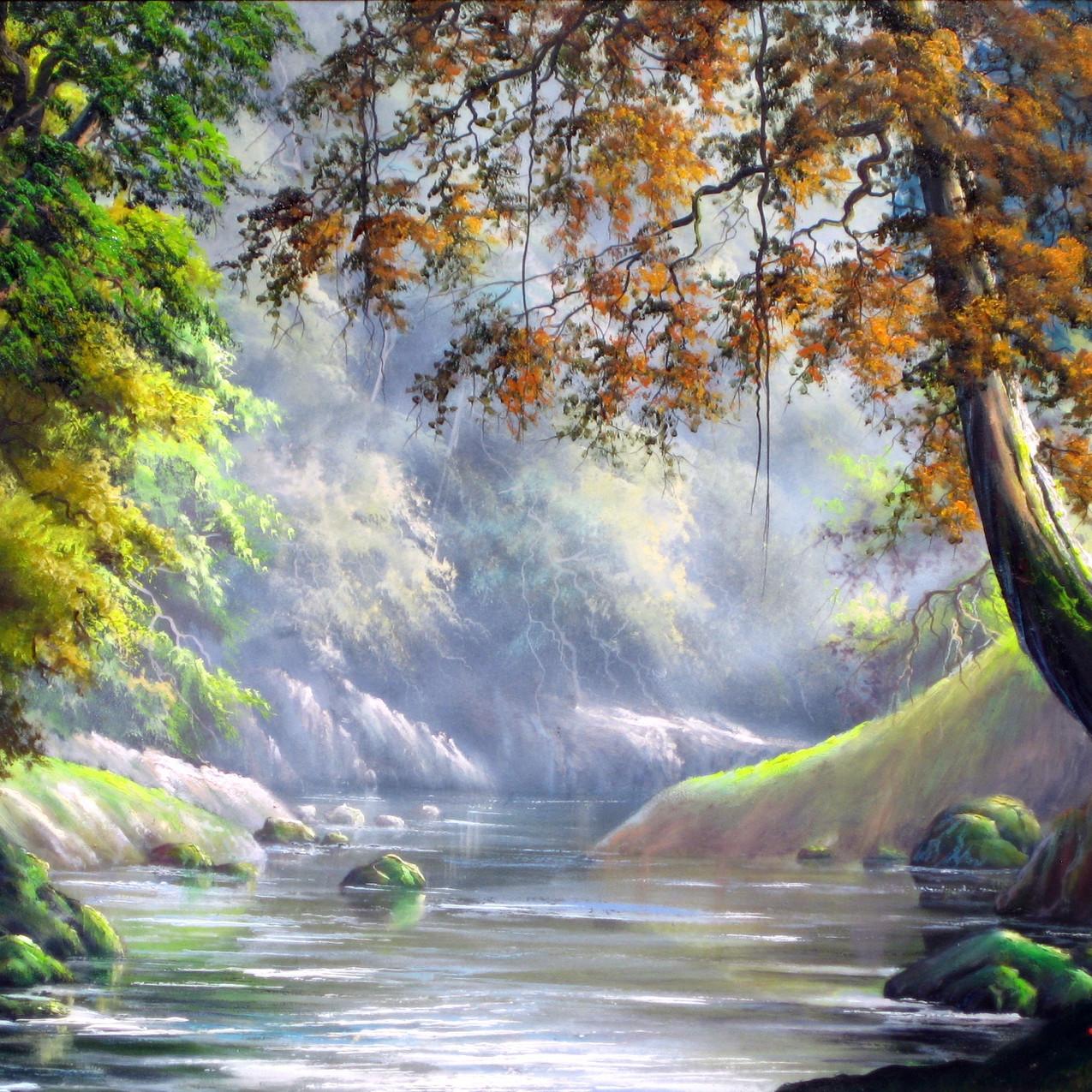 pintura paisagem a2