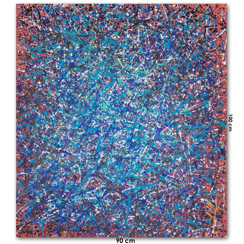 Pintura Abstrata Em Tela 90 cm X 100 cm