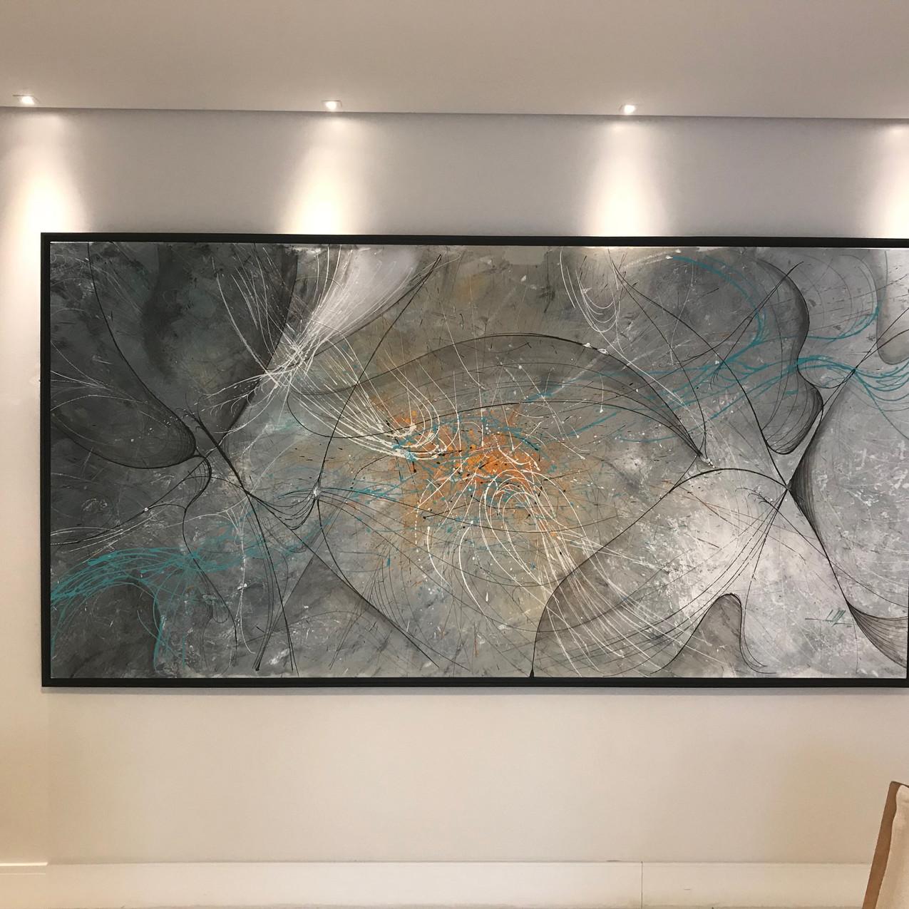 Quadro Abstrato Grande Para Sala