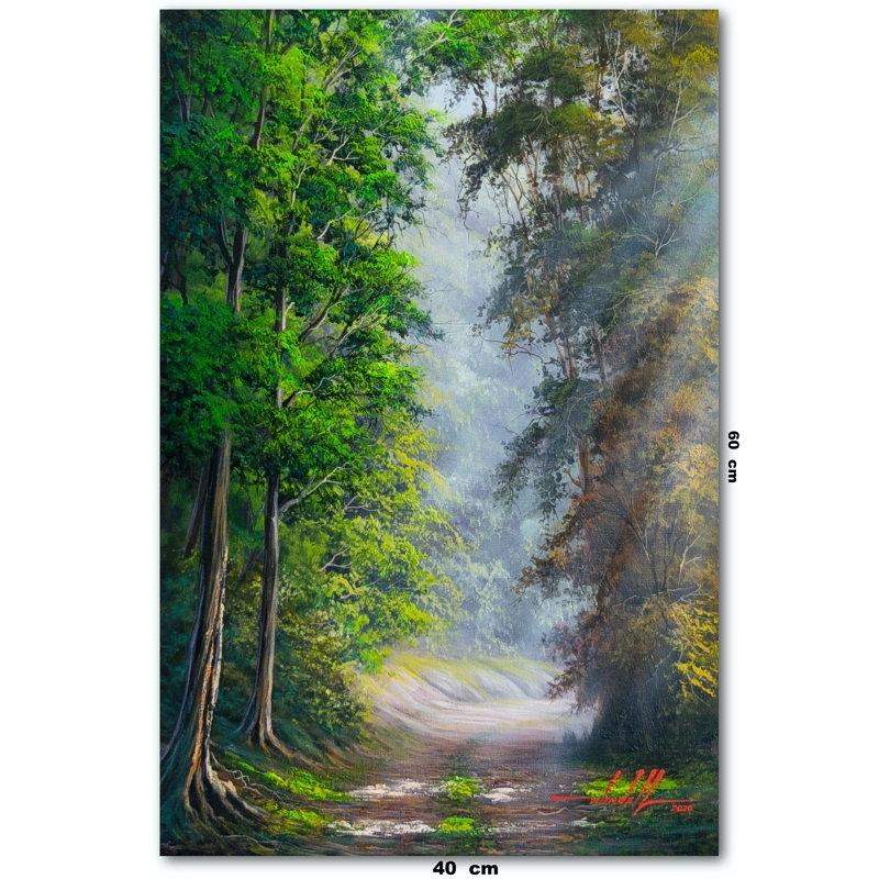 Pintura De Caminho Em Tinta Oleo sobre T