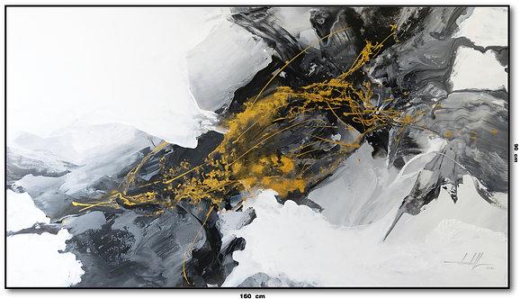 Pintura Abstrata Óleo Sobre Tela 160 cm X 90 cm