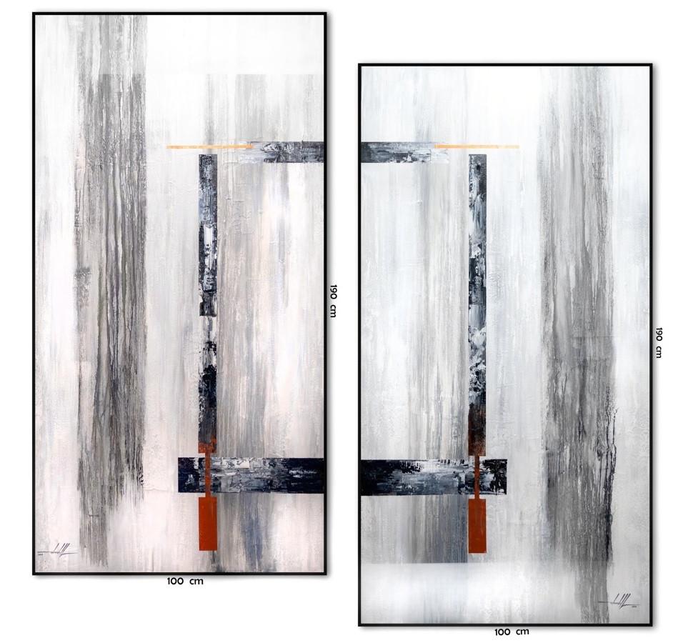 Pares De Quadros Abstratos Grandes