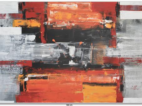 Telas Abstratas Com Vermelho
