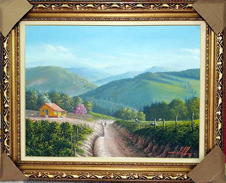 Pintura de Paisagem em Tela 100 cm X 75 cm - Paisagem 9