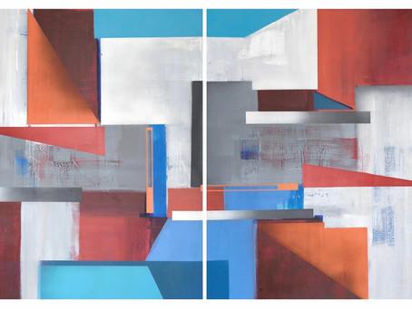 Quadros Abstratos Geométricos
