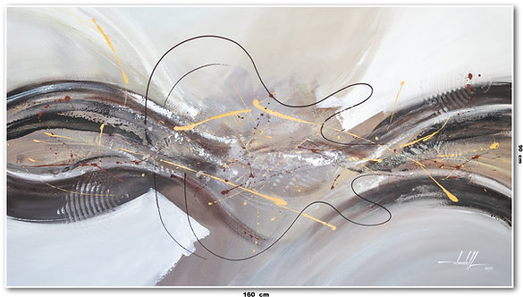 Pintura Abstrata Em Tela 160 cm X 90 cm Sansara