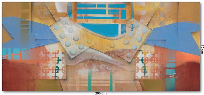 Arte Contemporânea em Tela para Quadro de 200 cm X 90 cm