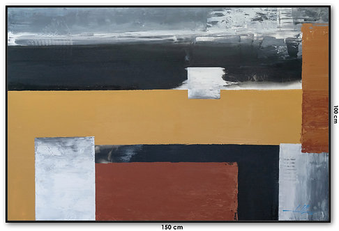 Pintura Abstrata Em Tela 150 cm X 100 cm MoaCali