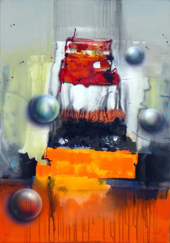 Quadro Moderno Pintura em Tela