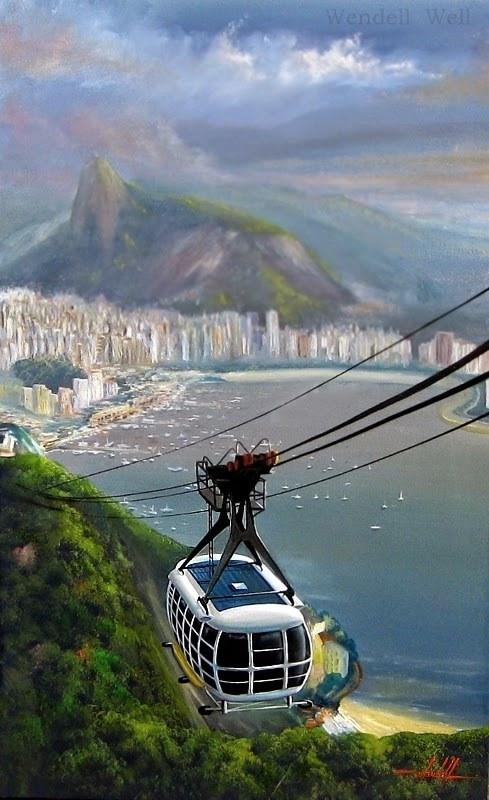 Pintura em Tela do Rio de Janeiro