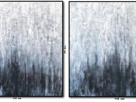 Quadros Abstratos Em Preto E Branco