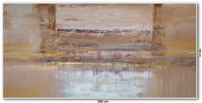 Pintura Abstrata Para Quadro Grande 200 cm X 100 cm Kalanna