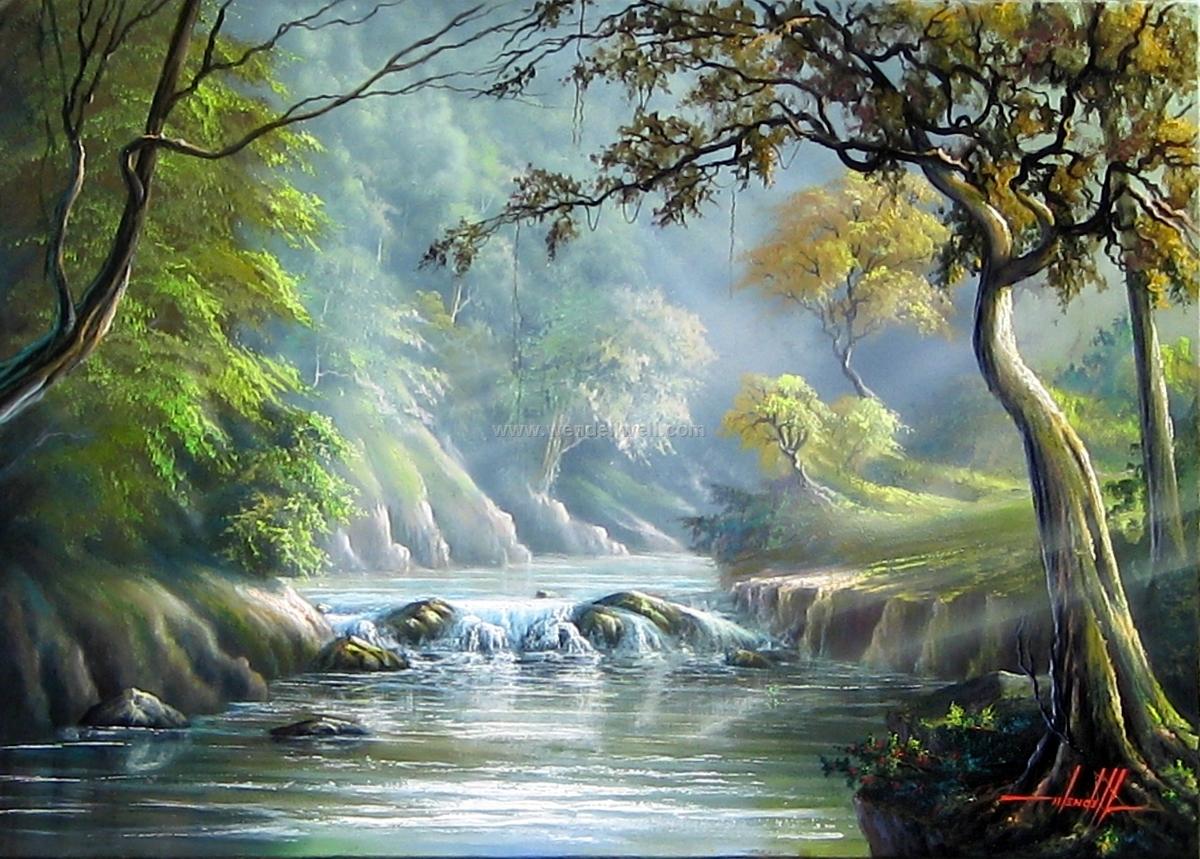pintura de paisagem a oleo (3)