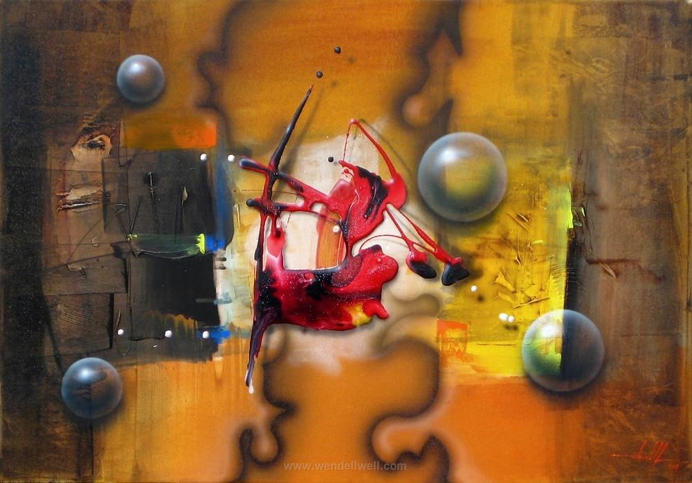 Pintura Moderna em Tela