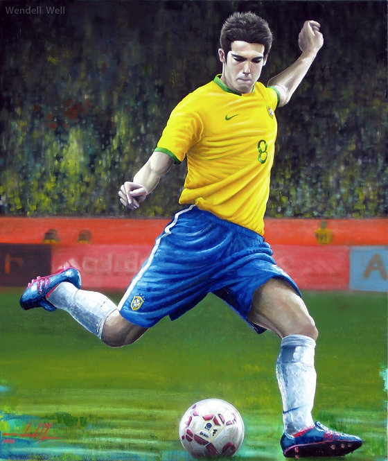 Pintura Kaka Seleção Brasileira - 80 cm X 95 cm