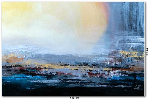 Pintura Abstrata Óleo Sobre Tela 140 cm X 90 cm