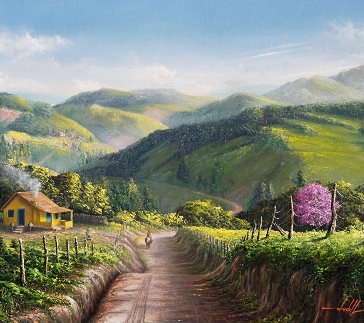 pintura de paisagem a oleo