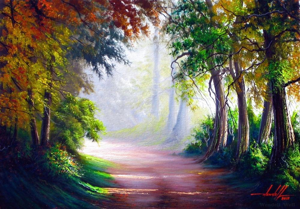 Pintura em Tela Paisagem com Caminho