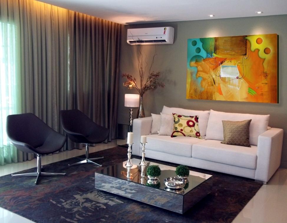 Tela com Pintura Abstrata para Quadro Moderno