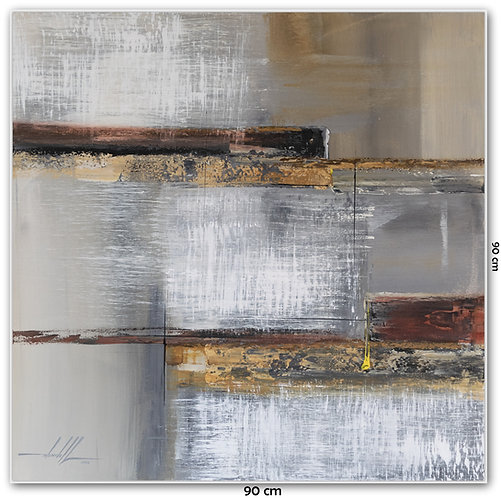 Pintura Contemporânea Em Tela 90 cm X 90 cm - Laruana