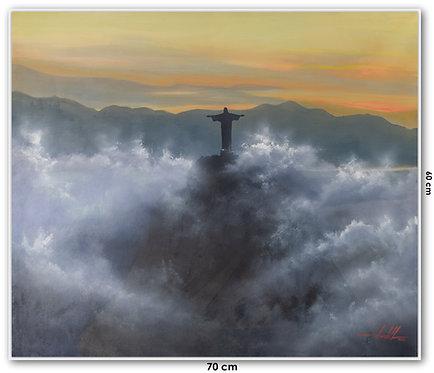 Quadro Com Pintura Em Tela - Rio de Janeiro 70 cm X 60 cm