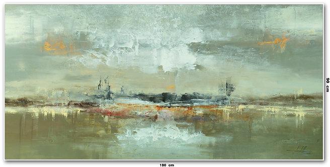 Arte Contemporânea em Tela para Quadro de 180 cm X 90 cm