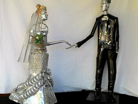 Escultura Os Noivos