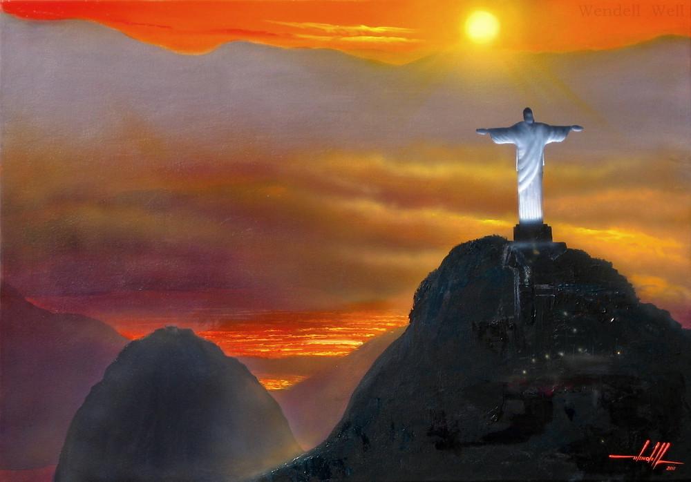 Quadro com Obra de Arte do Rio de Janeiro