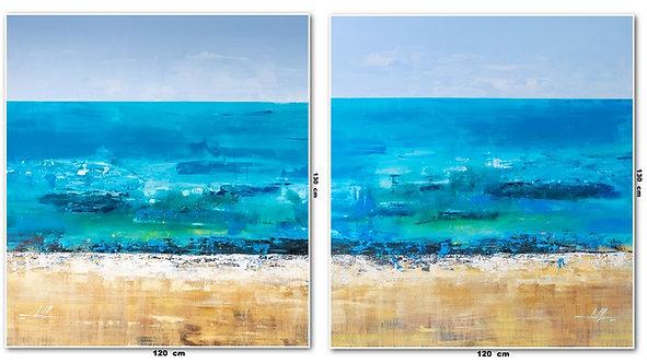 Duas Telas Abstratas Para Quadros Grandes 120 cm X 130 cm Cada