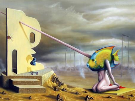 Obra Surrealista em Óleo sobre Tela - A Demora