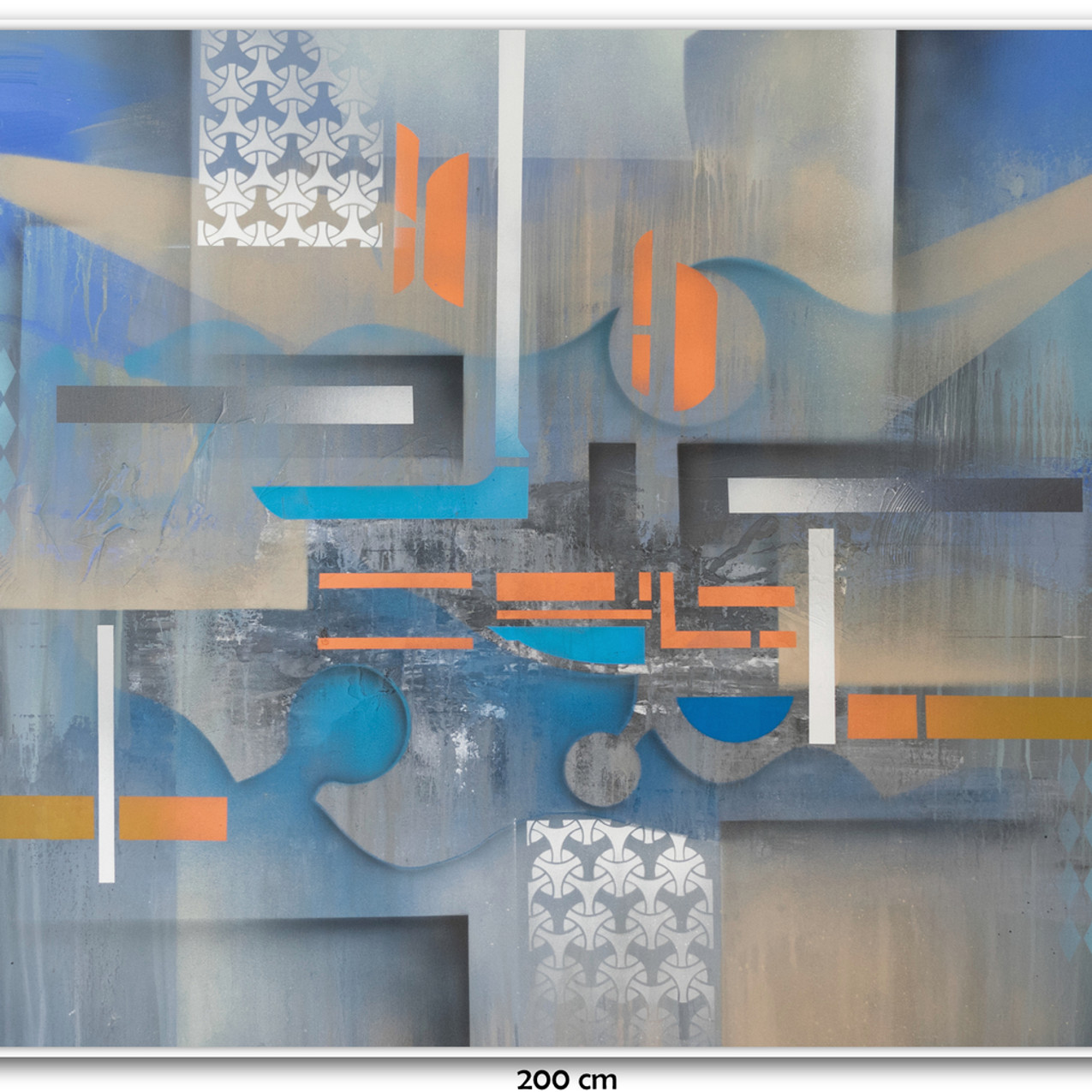 Pintura Tela Abstrata Para Quadro Grande