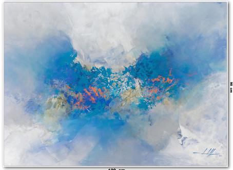 Tela Abstrata Em Tinta Óleo 1,20 m X 0,90 m