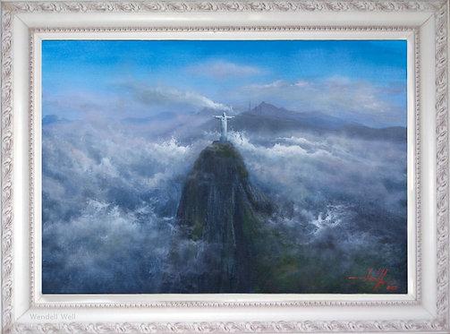 Quadro Com Pintura Em Tela - Rio de Janeiro 70 cm X 50 cm RJ17