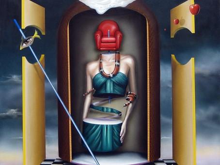 Obra Surrealista em Óleo sobre Tela - Messalina
