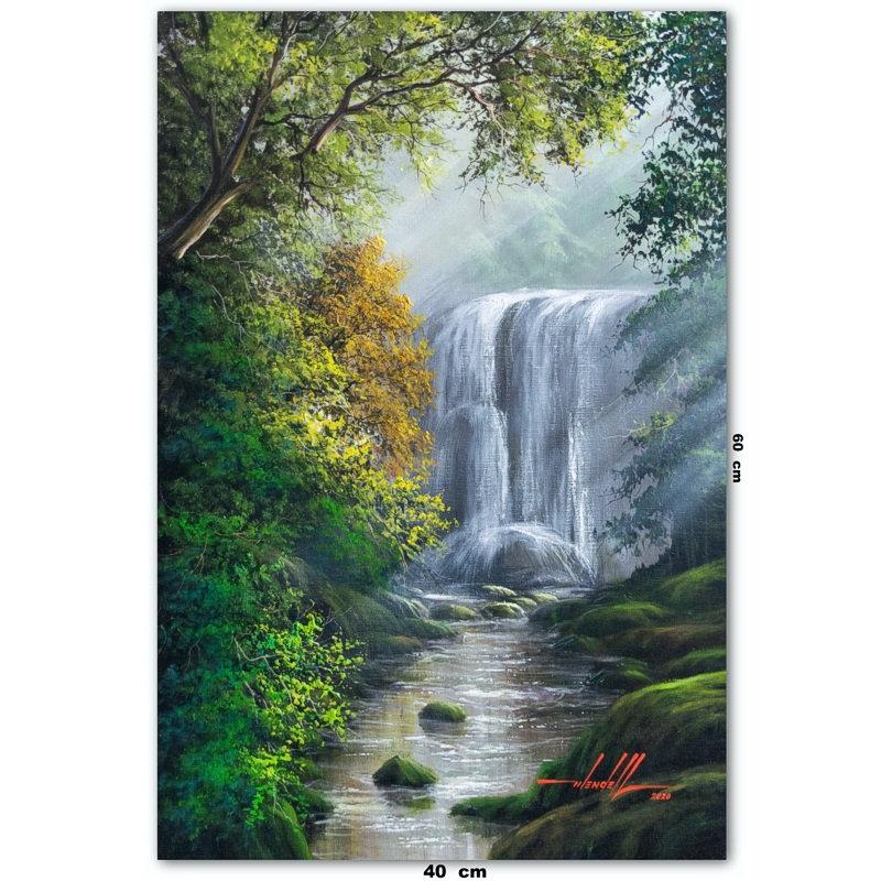 Pintura De Cachoeira Em Tinta Oleo sobre