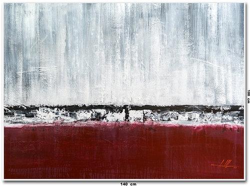 Pintura Abstrata Em Tela 1,40 M X 1 M