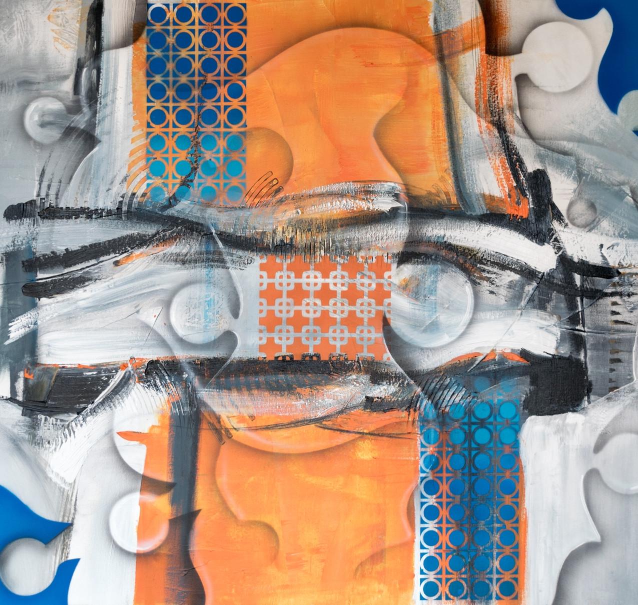 obra de arte abstrata em tela (1)