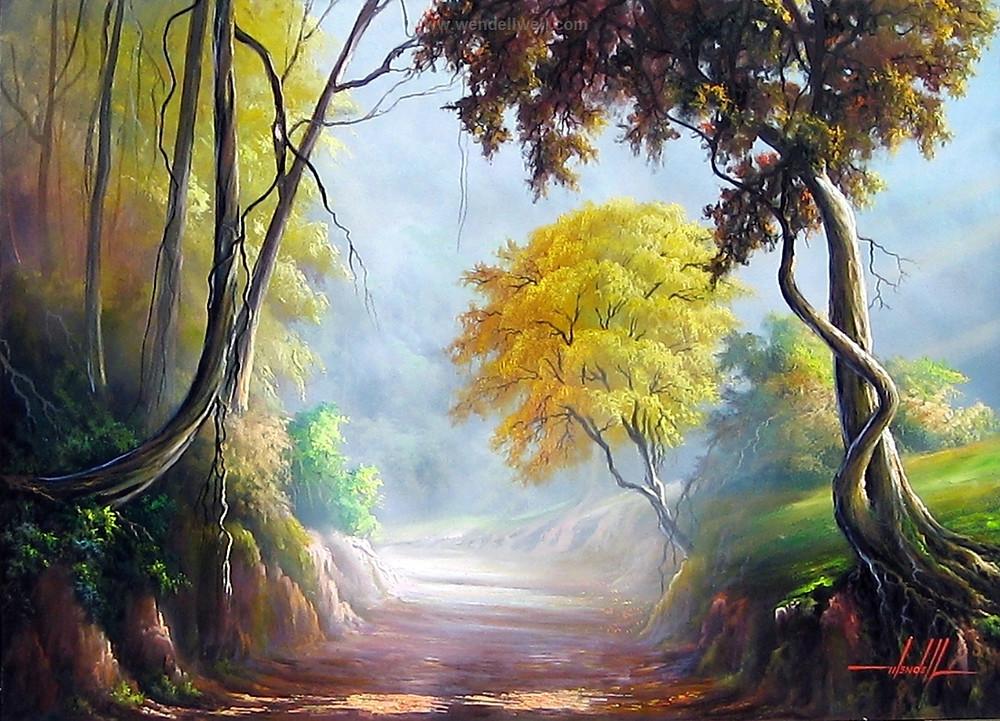 Pintura de Caminho em Tinta Óleo