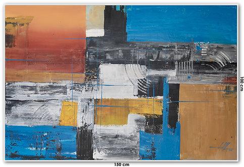 Pintura Abstrata Em Tela 150 cm X 100 cm Maraohuy