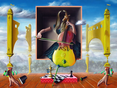 Pintura Surreal A Musica