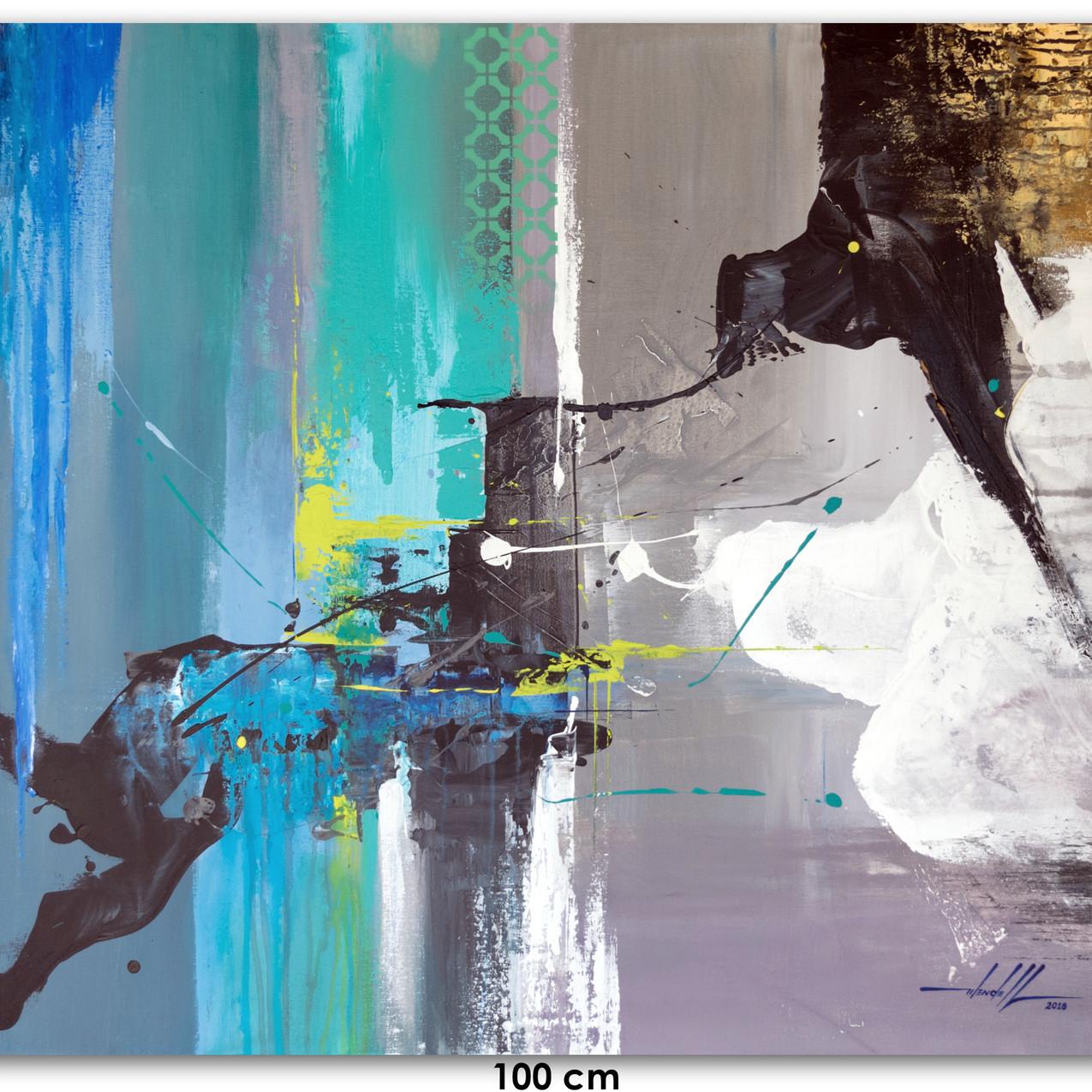 Pintura Abstrata  Em Tela 100 cm X 90 cm (1)