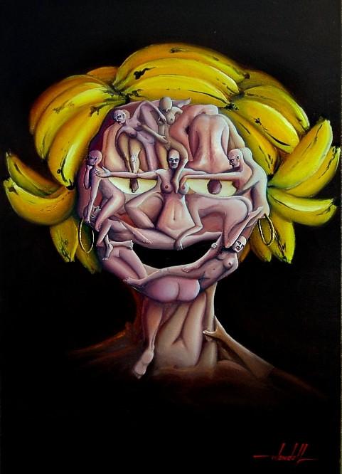 Pintura Surrealista em Óleo sobre Tela