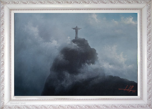 Quadro Com Pintura Em Tela - Rio de Janeiro 60 cm X 40 cm RJ7