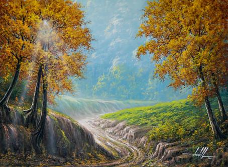 Pintura de Paisagem em Tinta Óleo sobre Tela