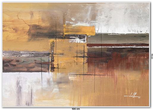 Quadro Com Pintura Abstrata Em Tela 100 cm X 70 cm - Tela 10